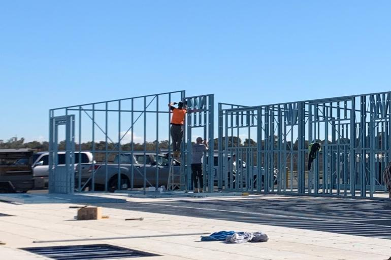 Manufacturing Steel Frames Homes in Griffith